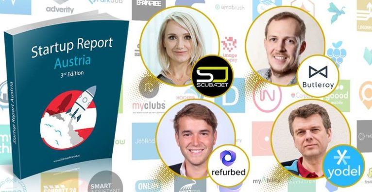 Startup Report Austria with Scubajet, Butleroy, refurbed and yodel