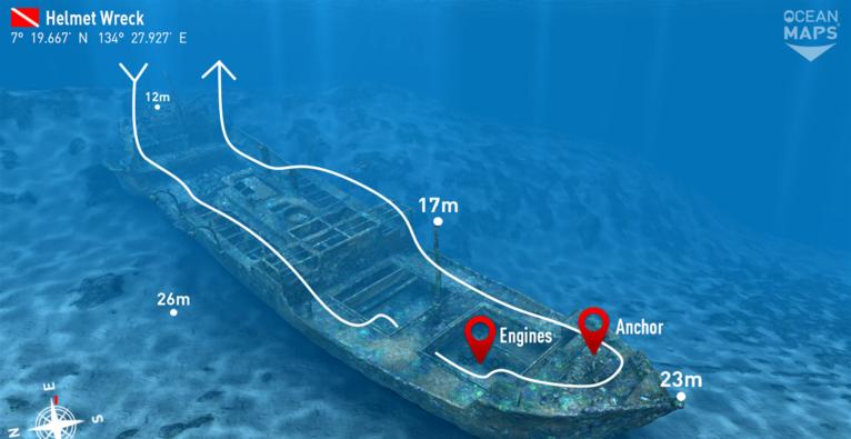 Kartenmaterial von Ocean Maps