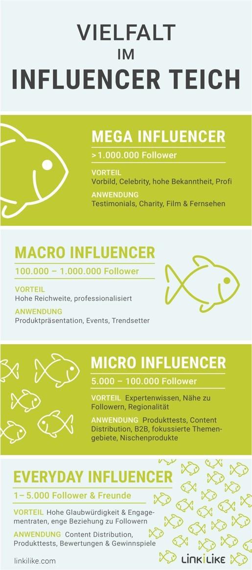 LINKILIKE Mega Macro Micro Everyday Influencer