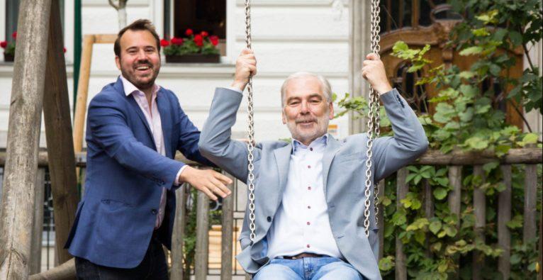 PrimeCrowd-Founder Markus Kainz mit Claus Lamer von Carbon Recovery