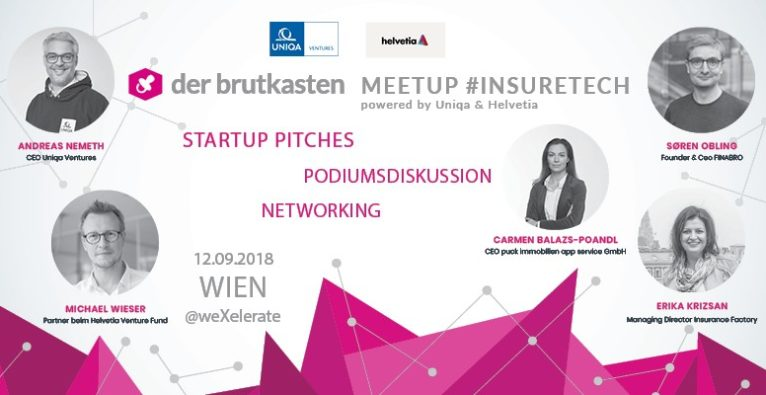 der brutkasten InsureTech Meetup am 12.09.2018