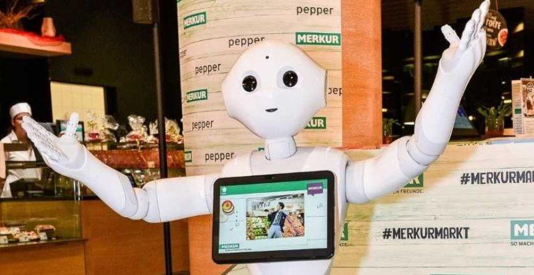 Pepper Rewe Merkur AI KI