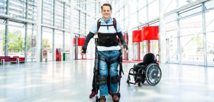 Exoskeleton, bionic suit, disability, paralyzed, paralysis, MyAbility, walking, Austrian lotteries