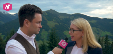 Magarete Schramböck im Interview beim European Forum Alpbach
