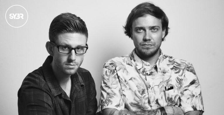 Die Gründer des Startups SYBR, Marcel Hagenbauer und Stefan Bergmann.