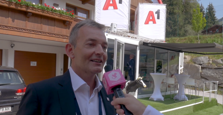 A1 CTO Marcus Grausam auf dem Forum Alpbach über IoT-Projekte und Smart City.
