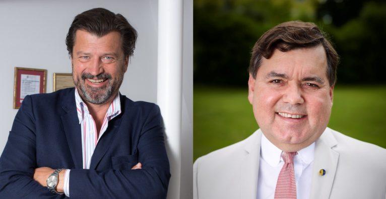 PULS 4 Moni Fellner / Clever Clover: Martin Rohla (l.) kommt bei 2 Minuten 2 Millionen für Heinrich Prokop (r.)