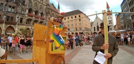 """Grazer teamazing veranstaltet """"Streitwagen-Kampf"""" im Zentrum Münchens"""
