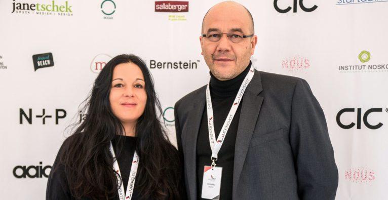 Die Startup Moonshot-Veranstalter Elvira Pöschko und Gerhard Hofer