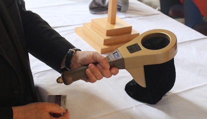 Der elektronische Klingelbeutel ist eines von mehreren neuen Spendensammel-Geräten