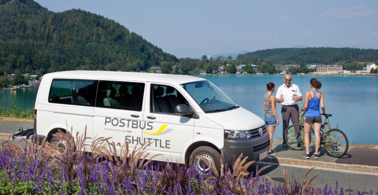 ÖBB / Michael Dolinsek: Der Postbus-Shuttle im Testbetrieb am Kärntner Klopeiner See