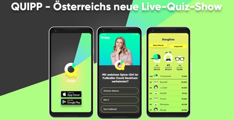 Quipp ist das erste Live-Quiz Österreichs fürs Smartphone.