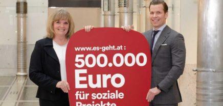 Bawag P.S.K. Kunden und Mitarbeiter spenden 500.000 Euro für Sozialprojekte