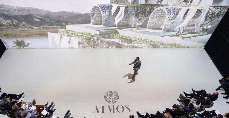 Atmos: Chris Müller bei der Präsentation im Linzer Ars Electronica Center