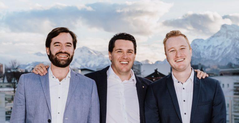 Findologic: Das Führungsteam mit Georg Sorst (CTO), Matthias Heimbeck (CEO) und Simon Reichel (COO).