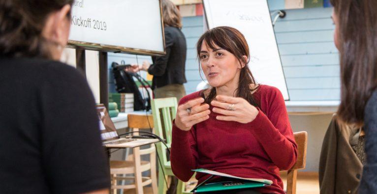 Tatjana Harms von KulturenReich, einem der sechs Finalisten-Startups von found! 2019 von Deloitte und Impact Hub