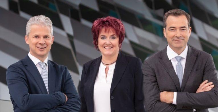 Marinomed: Der Vorstand vlnr.: CEO Andreas Grassauer, CSO Eva Prieschl-Grassauer, CFO Pascal Schmidt