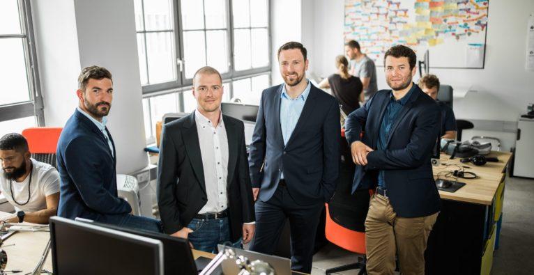 Anyline vlnr.: David Dengg, Entwickler, Daniel Albertini, CTO, Lukas Kinigadner, CEO, und Jakob Hofer, CMO