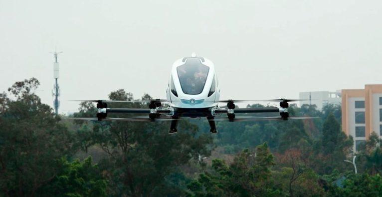 Partnerschaft EHang, FACC, Puls4, bemannte Drohne, Flugtaxi