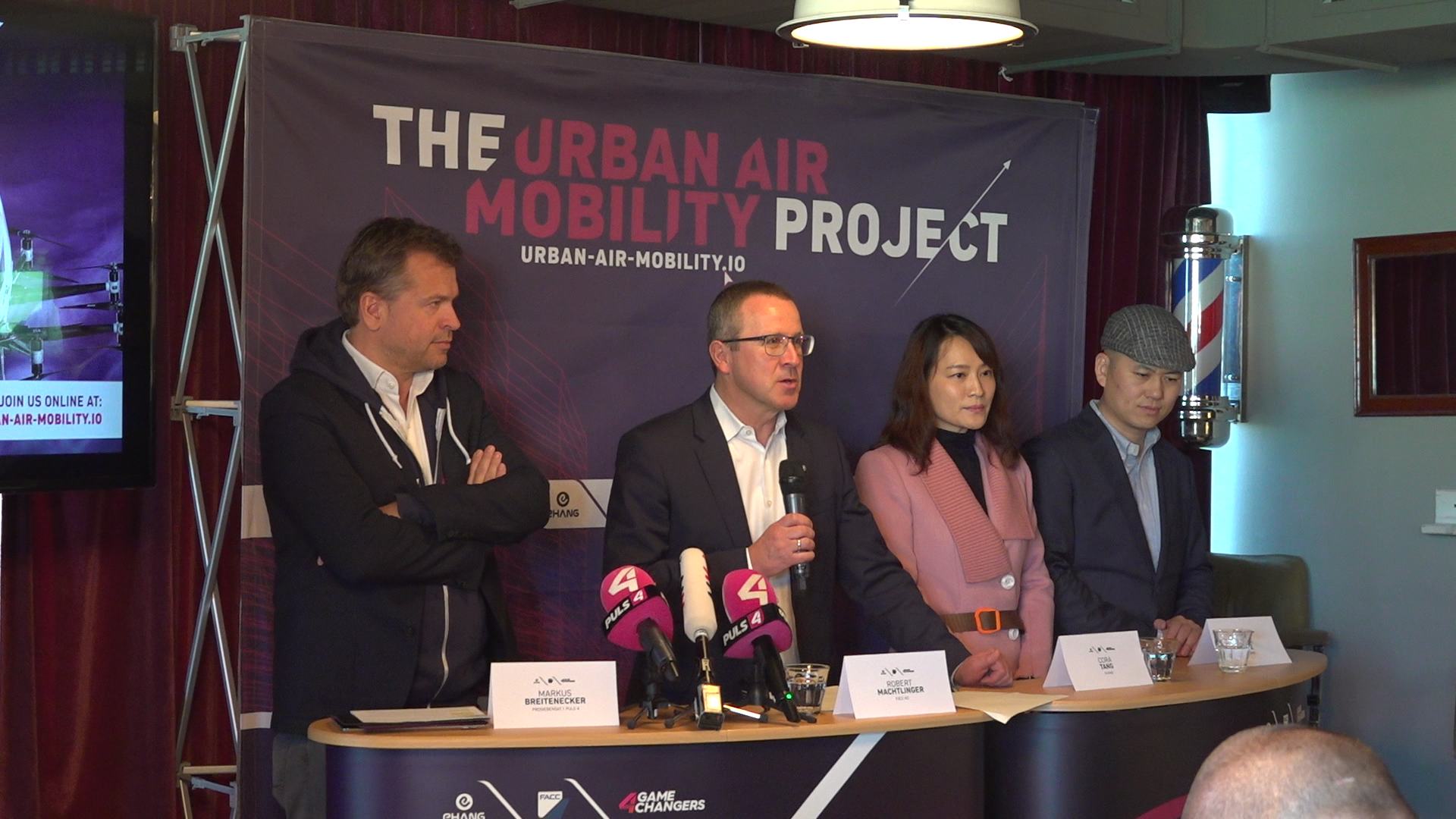 PK The Urban Air Mobility Project - Lufttaxi-Kooperation FACC, EHang, Puls4