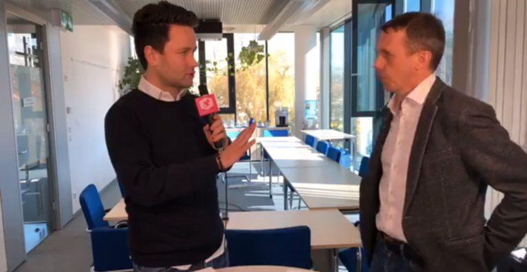 tech2b CEO Markus Manz im Interview am Networking Breakfast in Linz