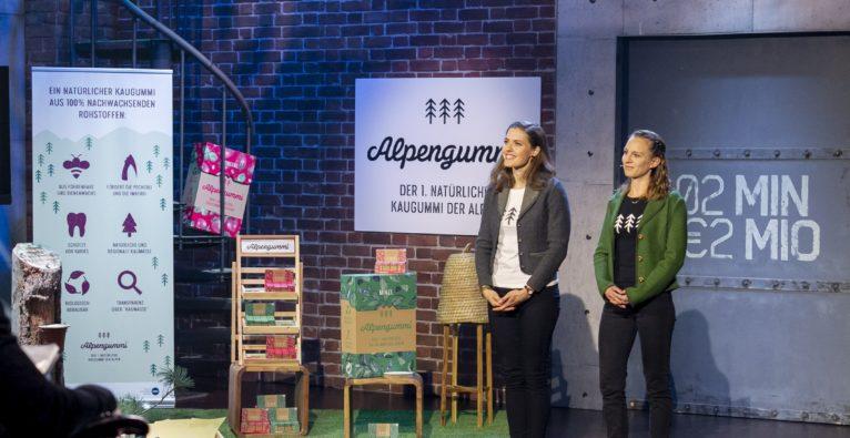 Alpengummi, 2 Minuten 2 Millionen, Sandra Falkner, Claudia Bergero