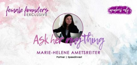 Female Founders Exclusive – Marie-Helene Ametsreiter | Speedinvest