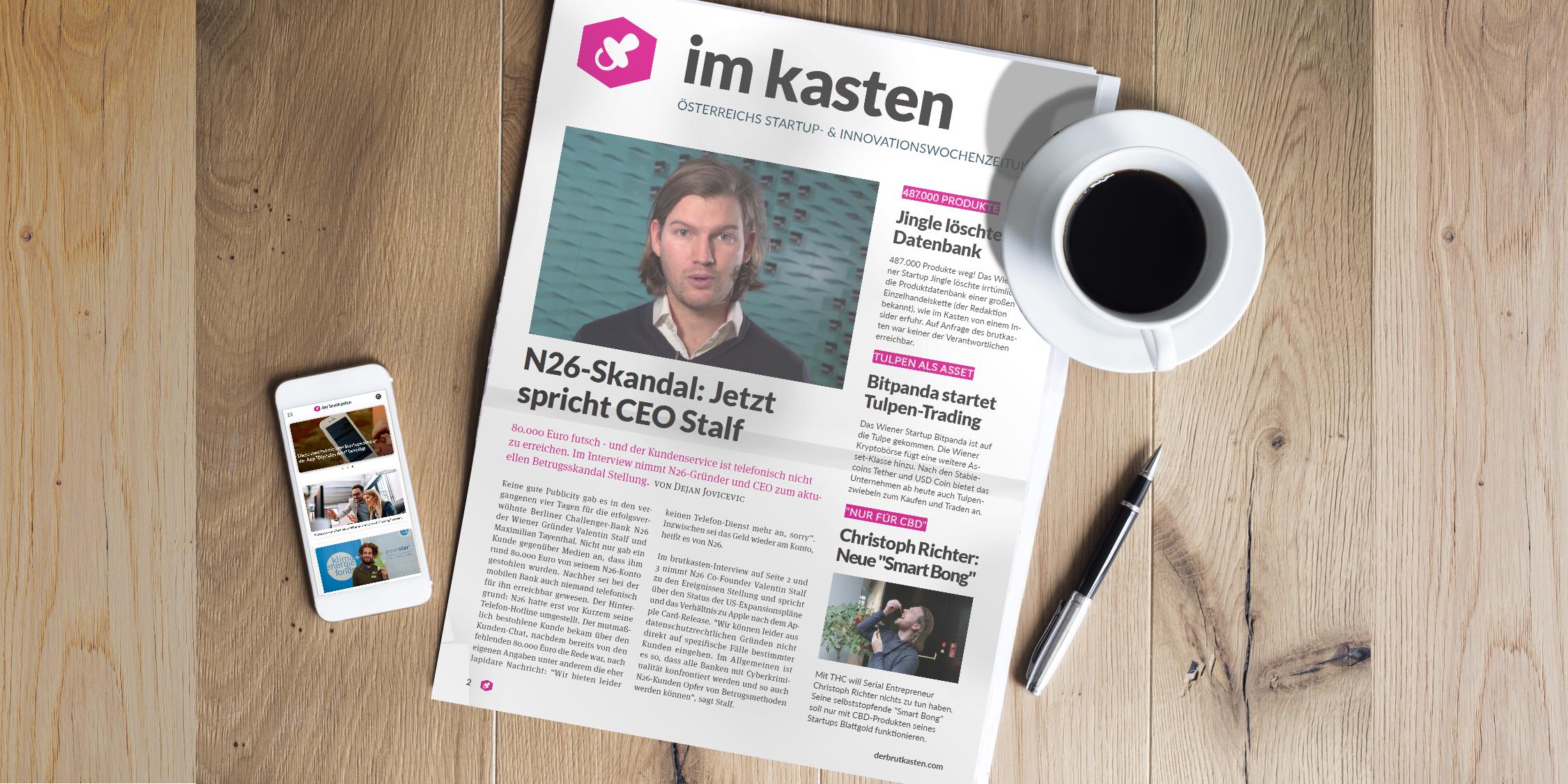 """der brutkasten: Die erste Ausgabe der Wochenzeitung """"im kasten"""""""