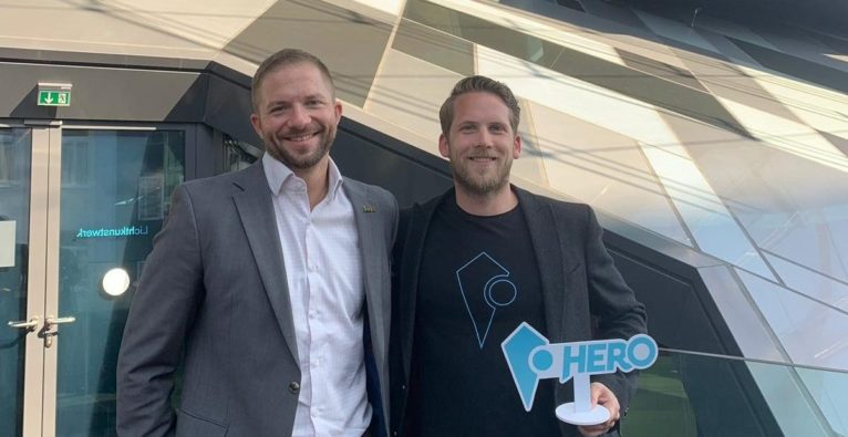 Martin Trink, Head of Accelerator 360 Lab, und Paul Polterauer, CEO HERO