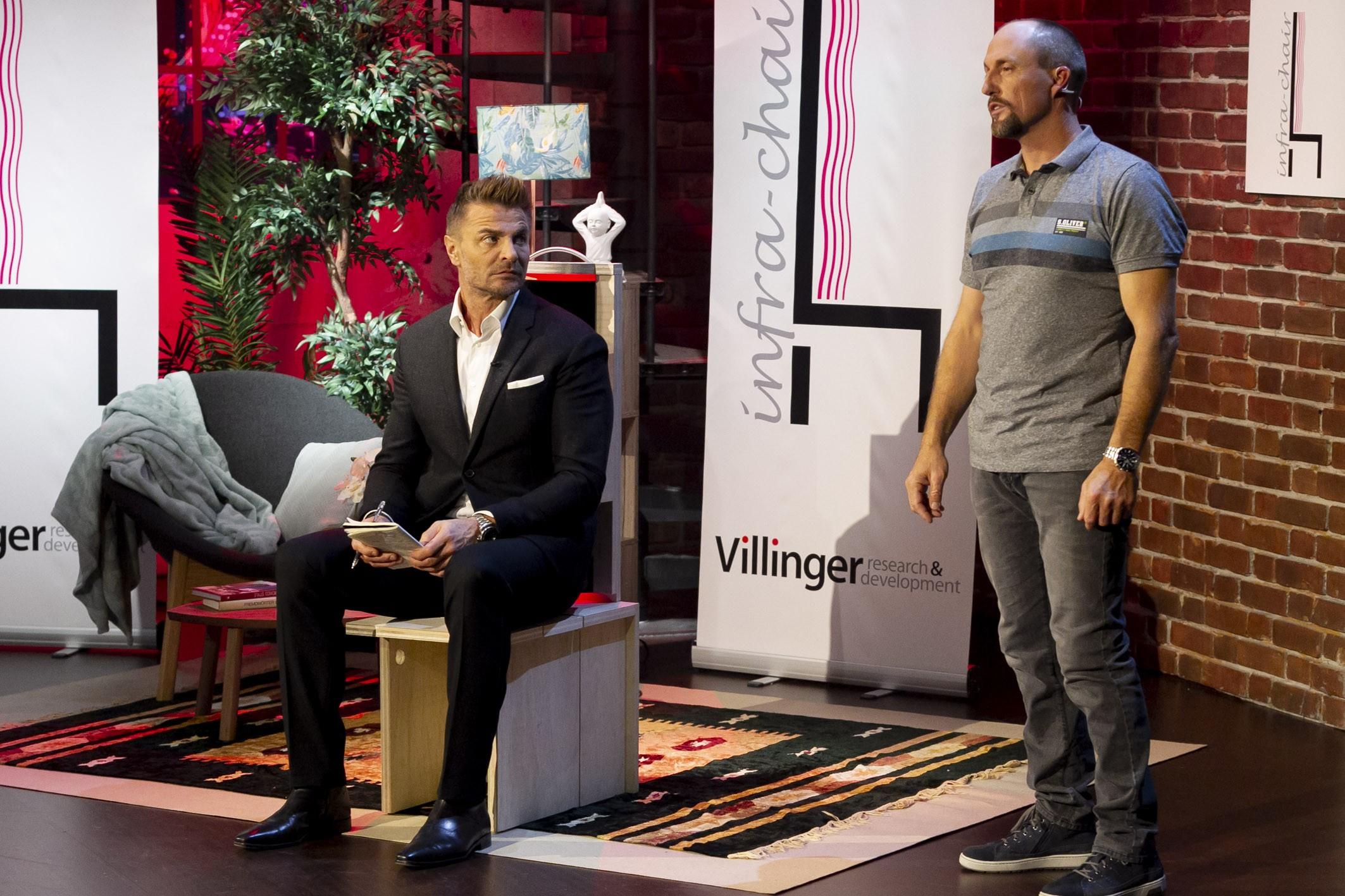 """2 Minuten 2 Millionen"", Martin Rohla, Katharina Schneider, Leo Hilinger, Hans Peter Haselsteiner, Florian Gschwandtner, Infra-Chair"