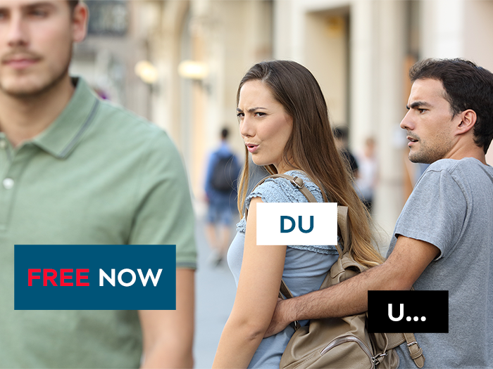 Free Now - PR-Aktion zur Uber-Pause
