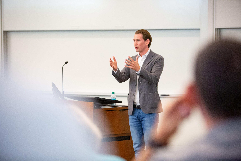 Sebastian Kurz in Stanford