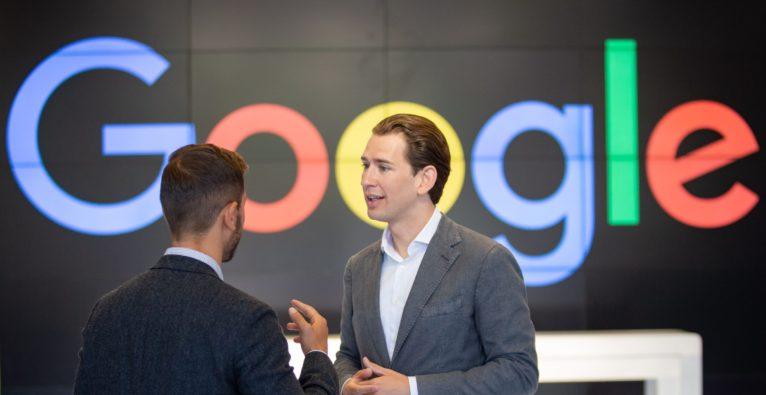 Sebastian Kurz bei Google
