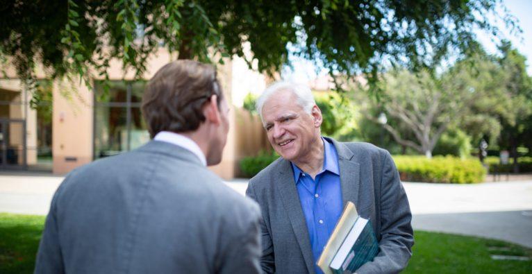 Sebastian Kurz mit Stanford-Physik-Professor Friedrich Prinz