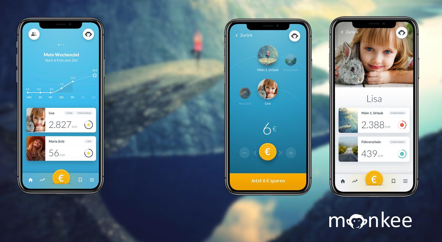 Monkee, aws, Förderung, Sparen, App, Konsum, Financial Health