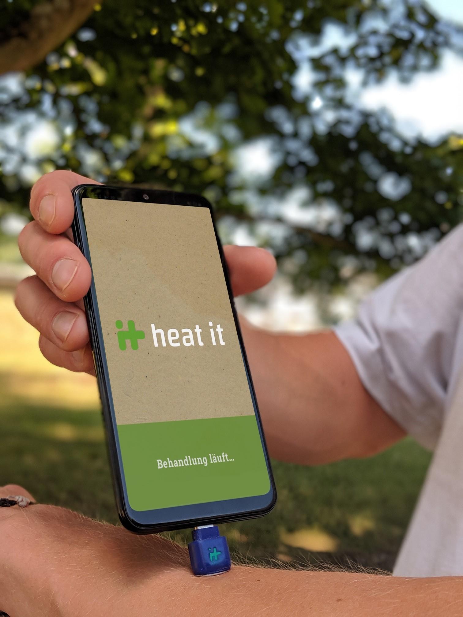 heat it, Insektenstiche, Karlsruhe, Mückenstich, Wespenstich, Mücken, Wesepen, Smartphone, Behandlung