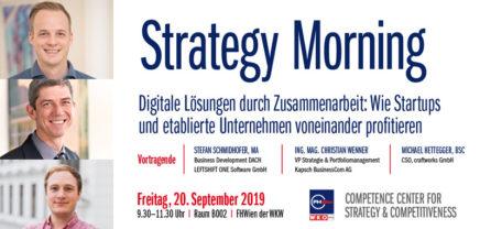 Strategy Morning: Wie Startups und etablierte Unternehmen voneinander profitieren