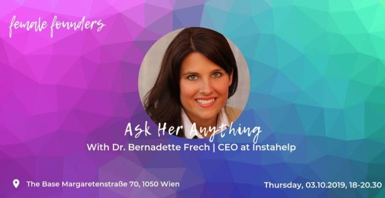 Ask me anything with Bernadette Frech