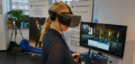 Das Startup BraveYourself VR hilft, die eigene Rede im virtuellen Raum zu trainieren