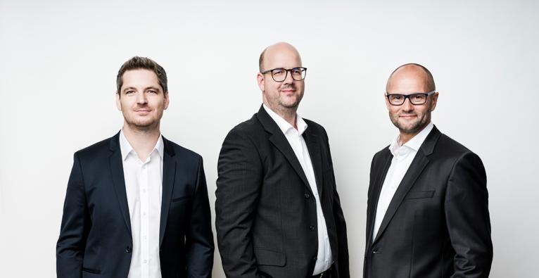 Das neu aufgestellte Smint.io Founder-Team, (v.li.) Reinhard Holzner, Nikolaus Rosenmayr, Gert Fahrnberger
