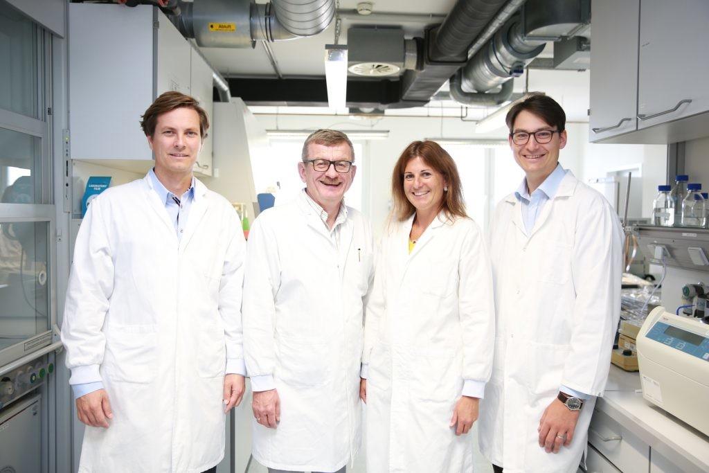 PhagoMed Biopharma GmbH: Christine Landlinger-Schubert übernimmt die Leitung eines neuen Teams. Außerdem am Bild (vlnr.): Lorenzo Corsini, Burkhard Wippermann und Alexander Belcredi
