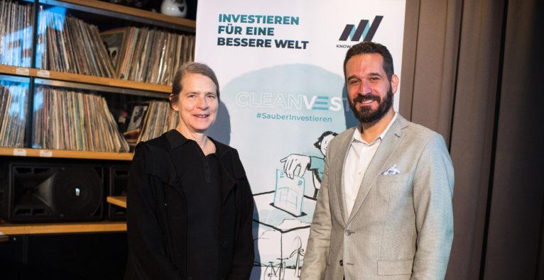 Klima-Koryphäe Helga Kromb-Kolb und Cleanvest-Gründer Armand Colard