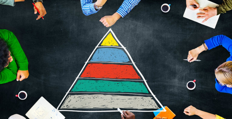 Maslows Pyramide im Büro