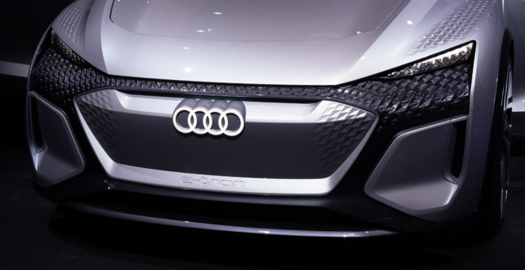 Eines der aktuellen E-Concept Cars von Audi auf der Branchenmesse IAA