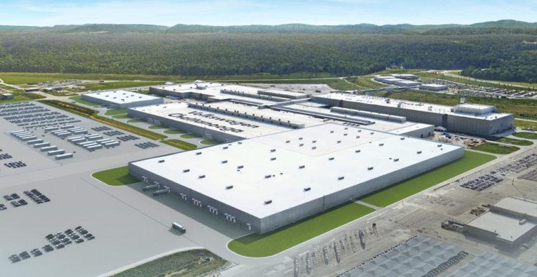 VW: Rendering der geplanten E-Auto-Fabrik in Tennessee - Kampfansage an Tesla