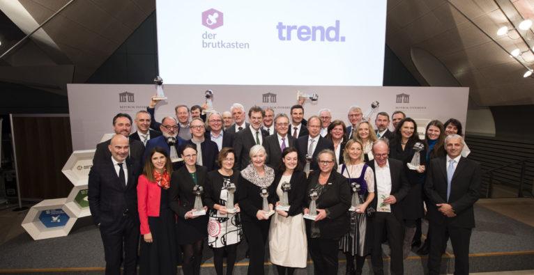 Gruppenbild mit allen Preisträgern beim Austrian SDG-Award 2019