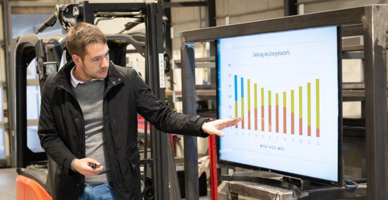 EEG-Gründer Martin Handl präsentiert Johann