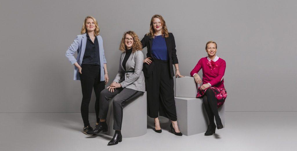 Das Grow F-Kernteam Lena Hödl, Nina Wöss, Lisa Fassl und Michaela Rothleitner