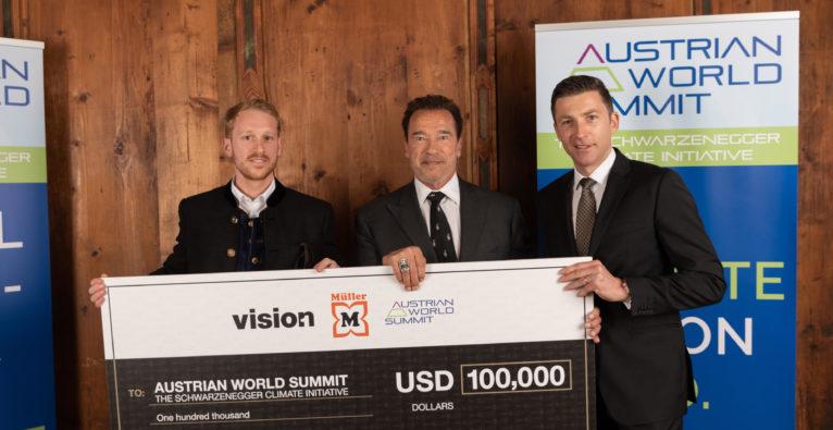 Vision1: Salzburger Startup sammelt mit Müller für Arnold Schwarzenegger