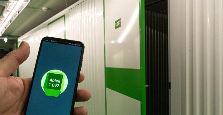 Store Room: Die Lager-Abteile können mit dem Smartphone geöffnet werden